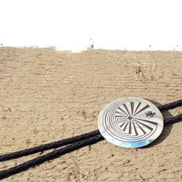 """Bolo Tie """"Man in the Maze"""", Navajo"""