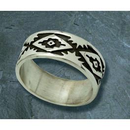 Ring Schamanisches Muster
