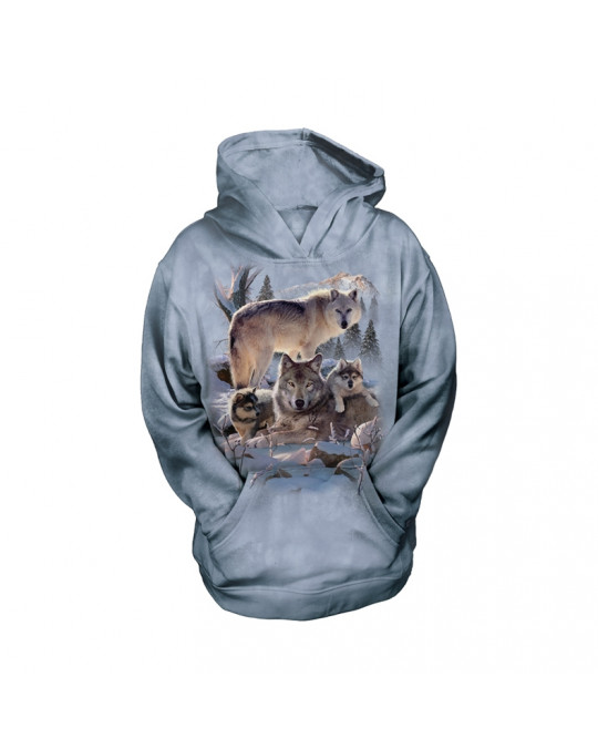 """Wolf Family"" Hoodie (Kapuzen-Sweatshirt) für Kinder von The Mountain"