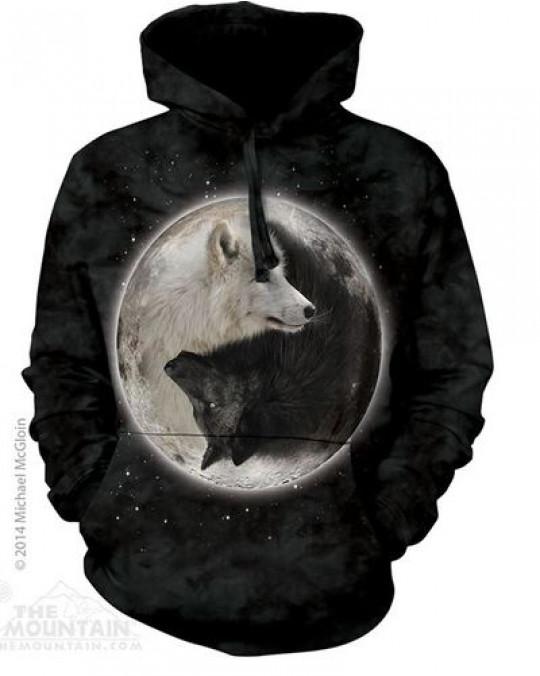 """""""Yin Yang Wolves"""" Hoodie (Kapuzen-Sweatshirt)"""