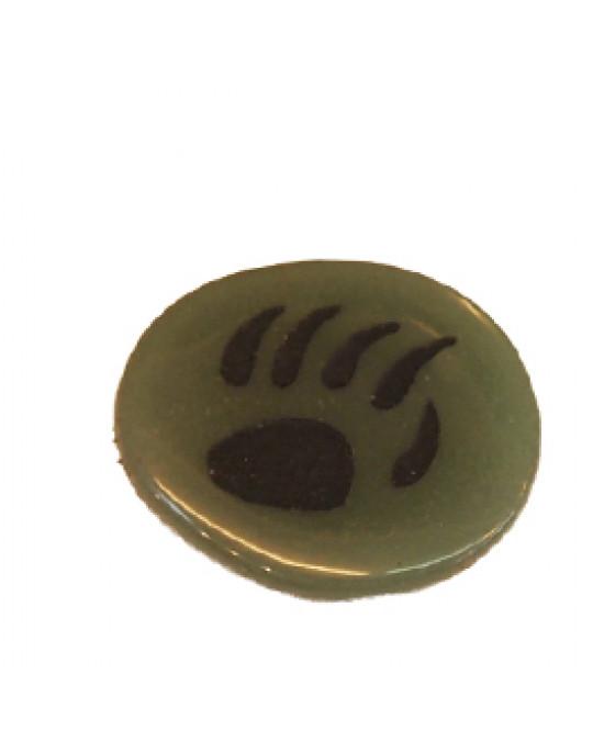 Krafttiersteine, Totemsteine-schwarz-graviert Bärentatze-Pfote