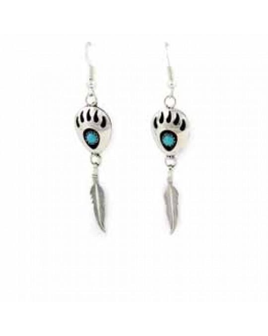Ohrhänger Bärentatze der Navajo