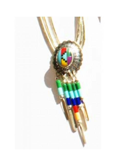 """Liquidsilverkette """"Concho +Dangles"""" -multicolor"""