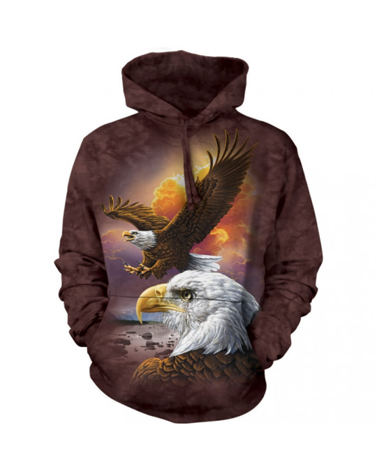 """Eagles and Clouds"" Hoodie (Kapuzen-Sweatshirt) von The Mountain"