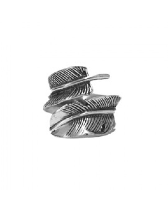 "Ein wenig verstellbarer Ring ""Feder"", gross"