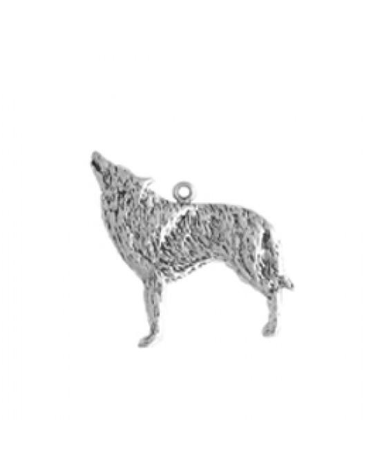 Flacher Wolf Anhänger - relativ gross
