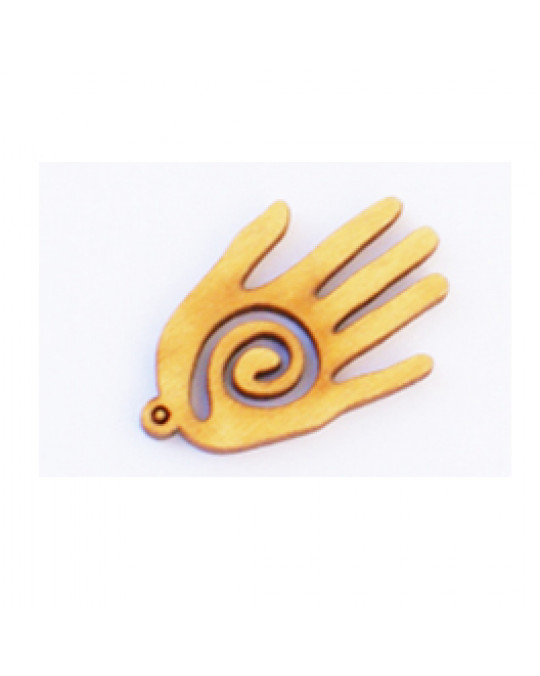 Holzamulette Symbole der Indianer-Hand Motiv-L