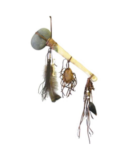 Steintomahawk der Navajo mit Knochengriff