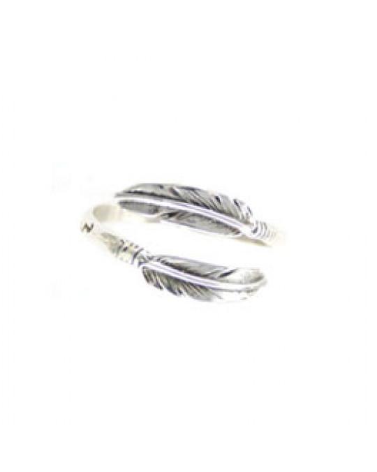 """""""Zwei Federn"""" - Verstellbarer Ring"""