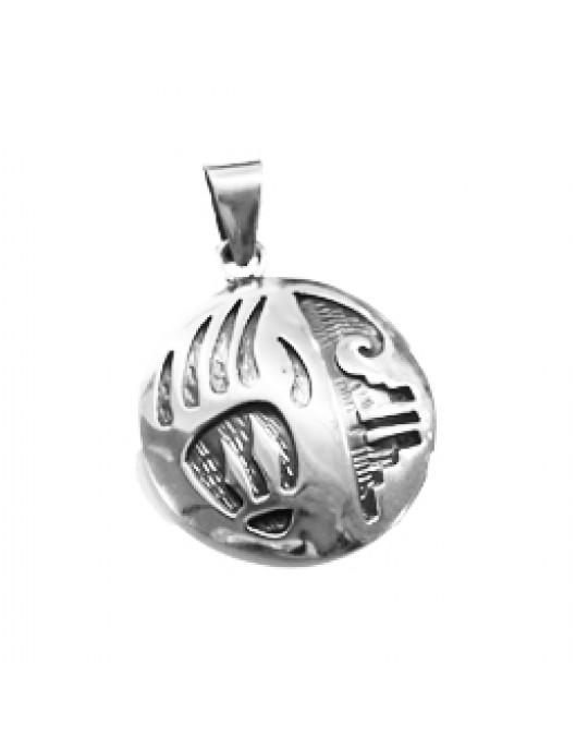 Rundes Amulett Bärentatze