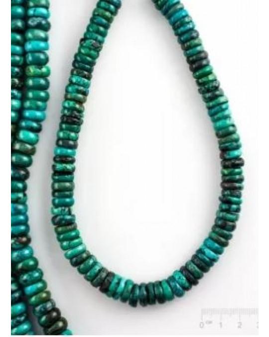Grössere Türkisrondellen, Stränge oder Perlen