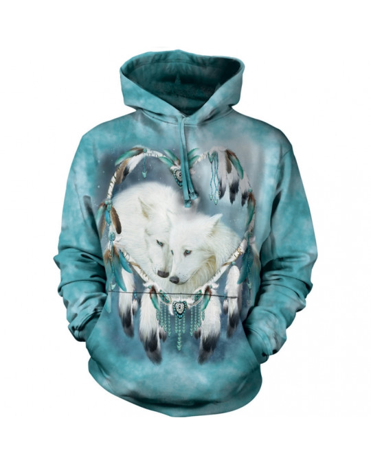 """Wolf Heart"" Hoodie (Kapuzen-Sweatshirt) von The Mountain"