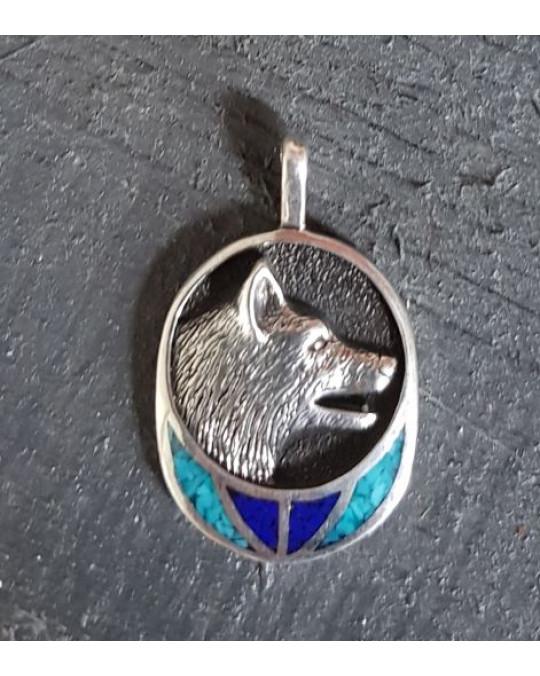 Silberanhänger -  Wolf