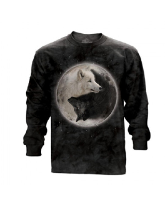 """Yin Yang Wolves"" Langärmeliges Shirt"
