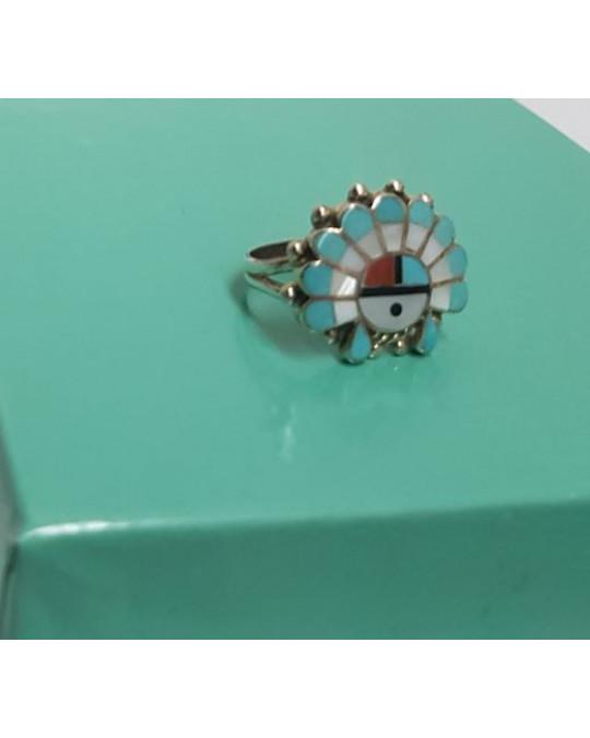 Zuni Sunface Ring